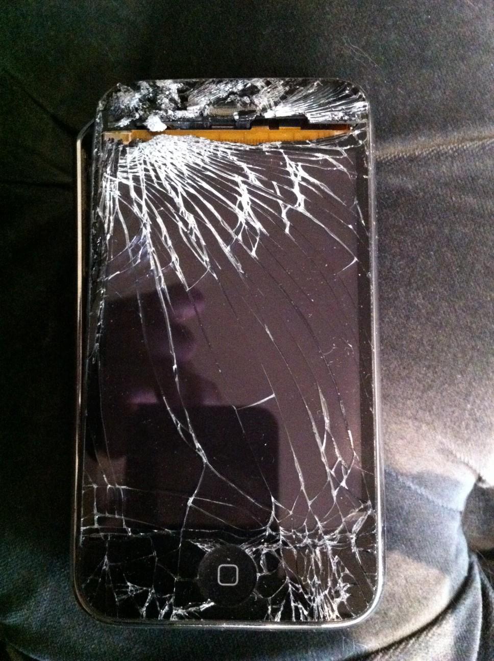 Iphone tout cassé